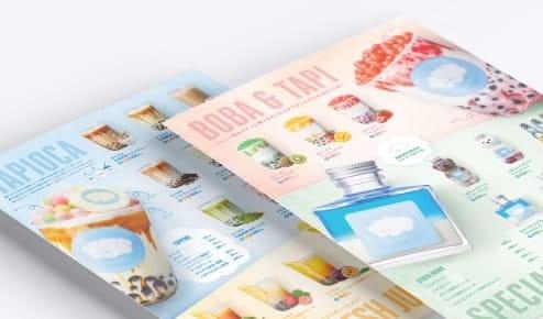 Cafe menu of tapioka